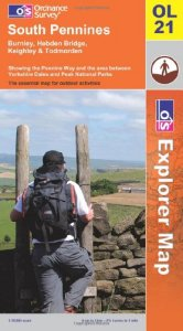 South Pennines map